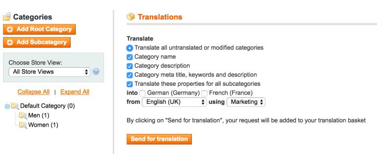 Category translation