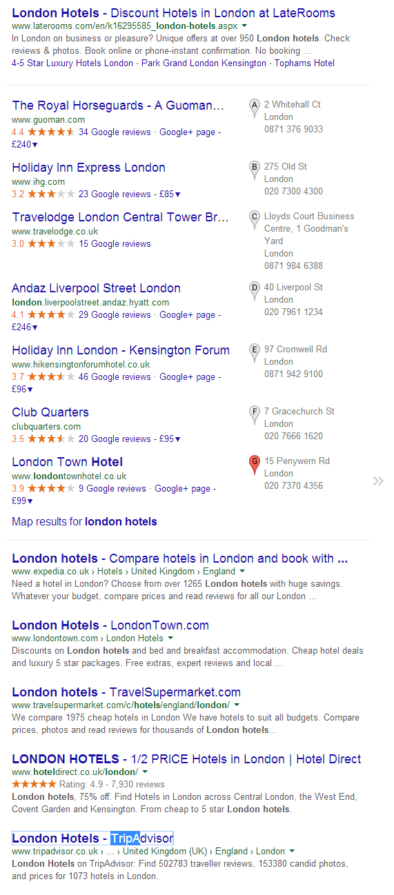 london hotels Google Search