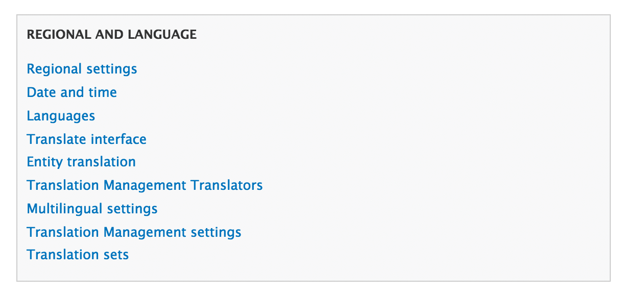 Select translation management translators
