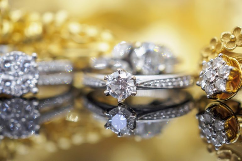 several luxury rings