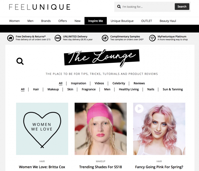 FeelUnique Blog Content