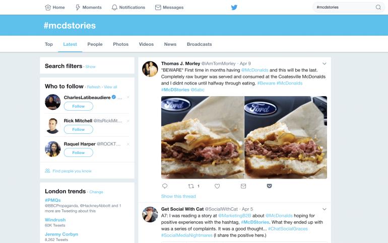 McDonald's #mcdstories on Twitter