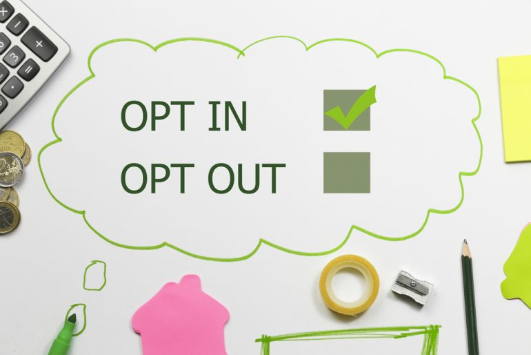 Opt In form