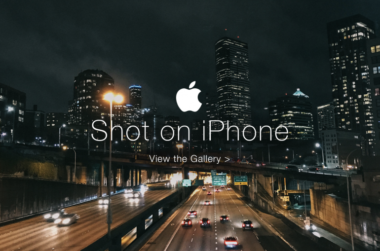 Apple's 'Shot on iPhone' campaign in the US featuring a urban cityscape shot at night