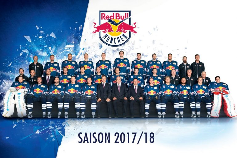 Red Bull Münche ice hocky club full team line up for season 2017-2018