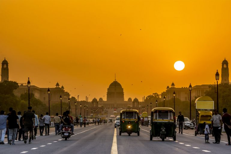 Sunset in India