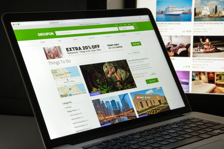 Groupon website homepage