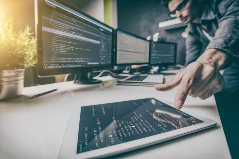Developing programming and coding a digital product