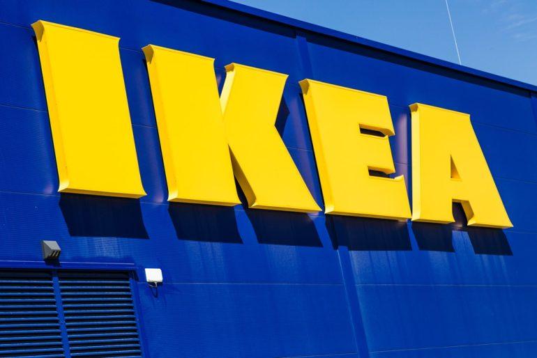 Ikea's storefront logo