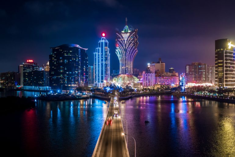 Macau city scape at night
