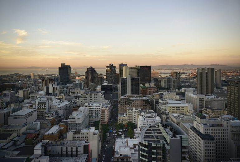 Landscape view of Cape Town's Central Business District