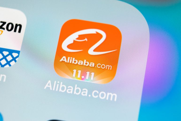 Alibaba application icon on Apple iPhone