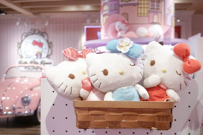 Hello Kitty Merchandise Plush Soft Toys in Hello Kitty House Bangkok, Thailand