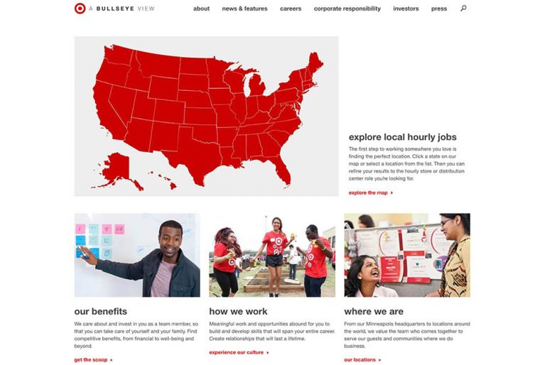 Target Careers homepage