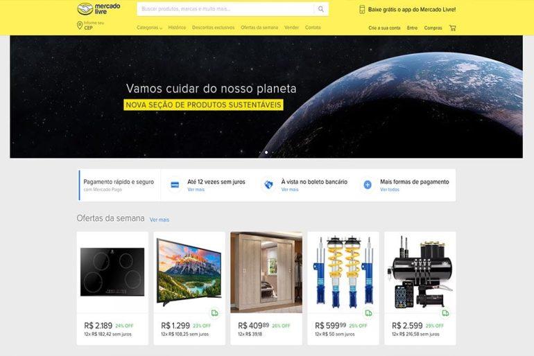 Mercado Livre homepage