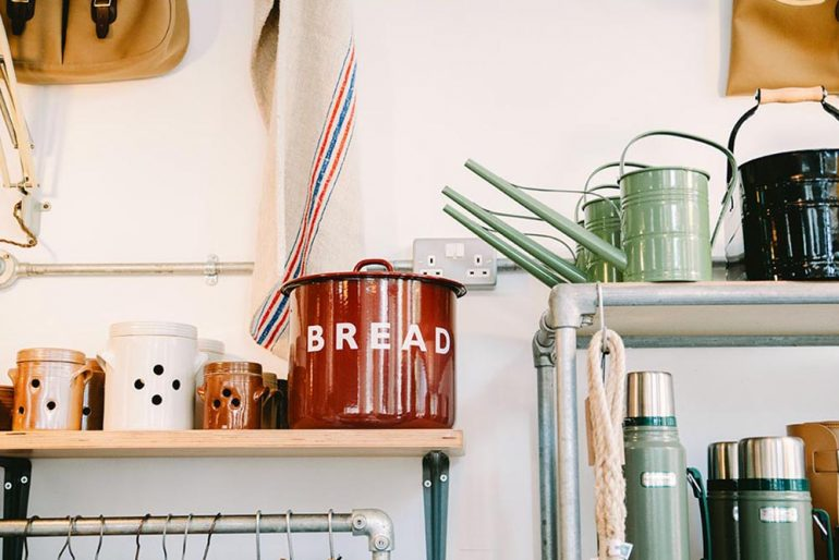 Close up of homewares in a retail store