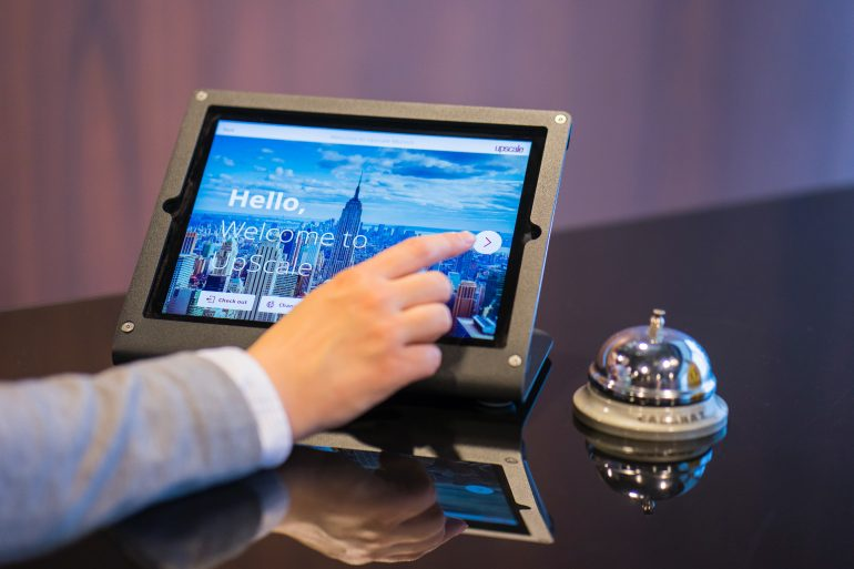 Hotel concierge using a touchscreen device