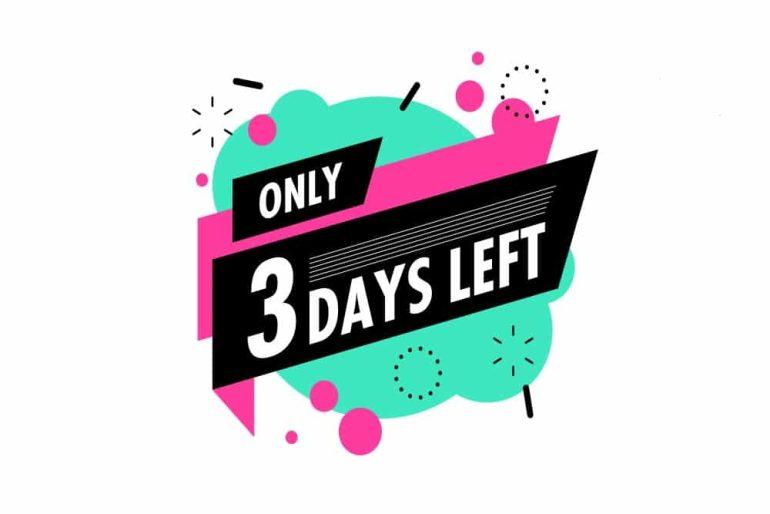3 days left offer countdown logo