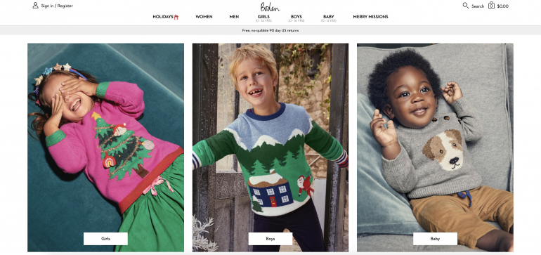 Boden US Homepage