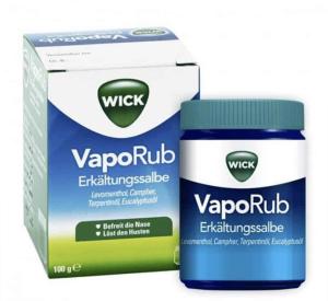 Vicks vapourub rebranded to Wicks in Germany
