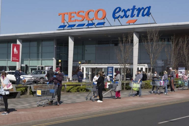 Tesco extra store in the UK